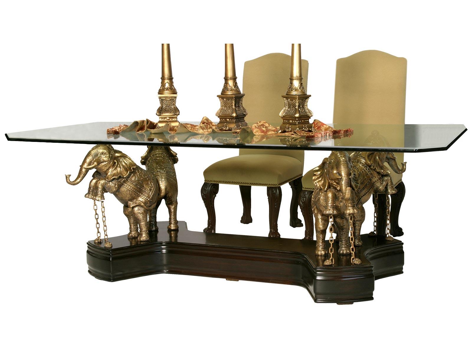 Base Elefantes Para Cristal Rectangular