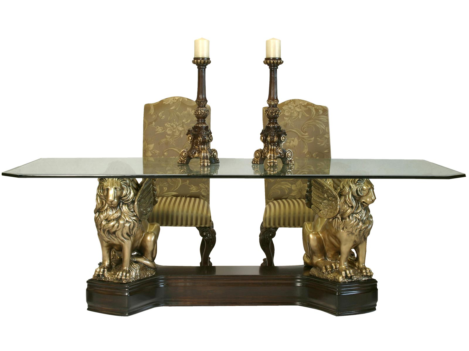 Base Leones Para Cristal Rectangular