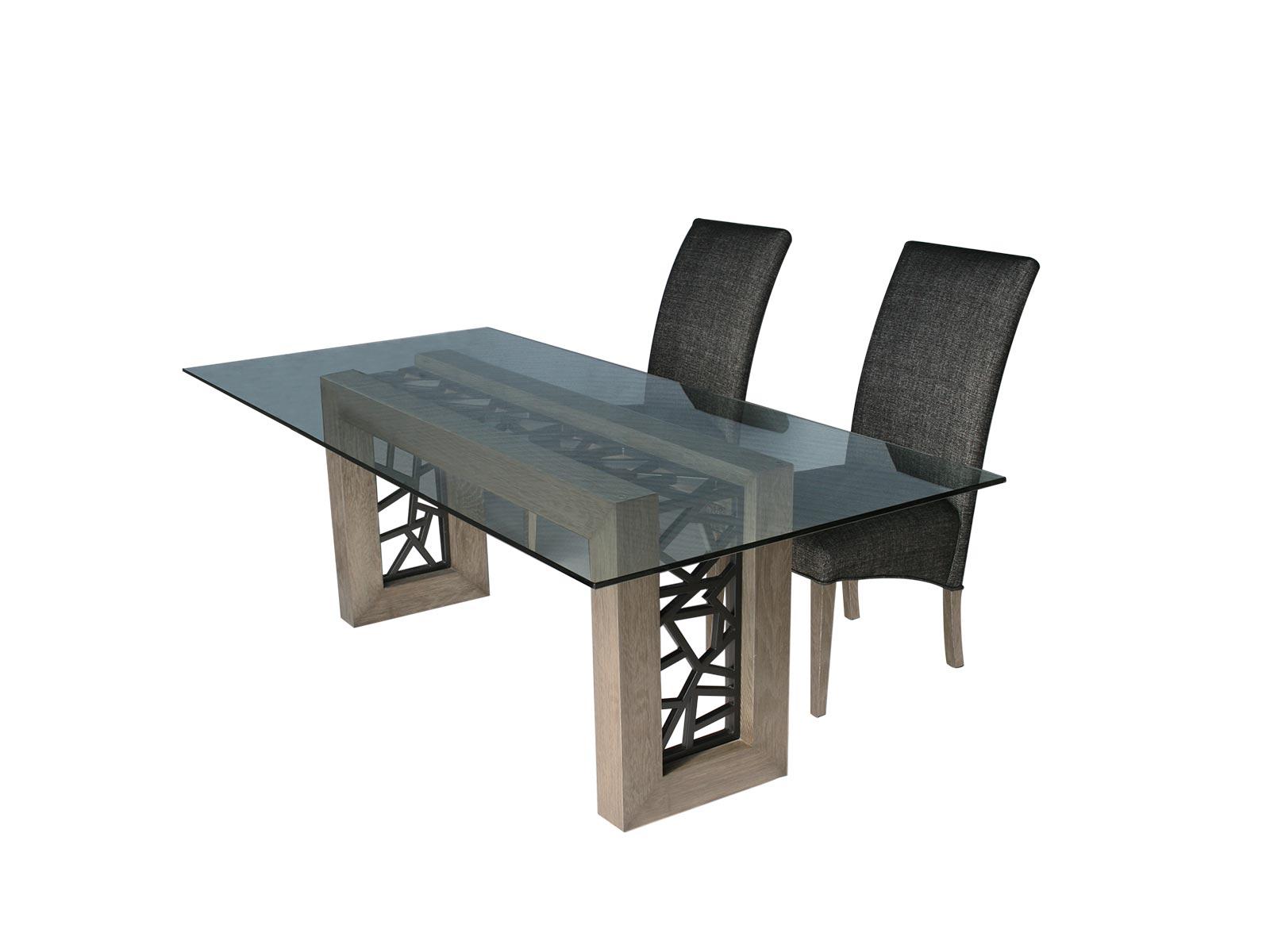 Mesa de sala porto centro y lateral para cristal for Base de cristal para mesa