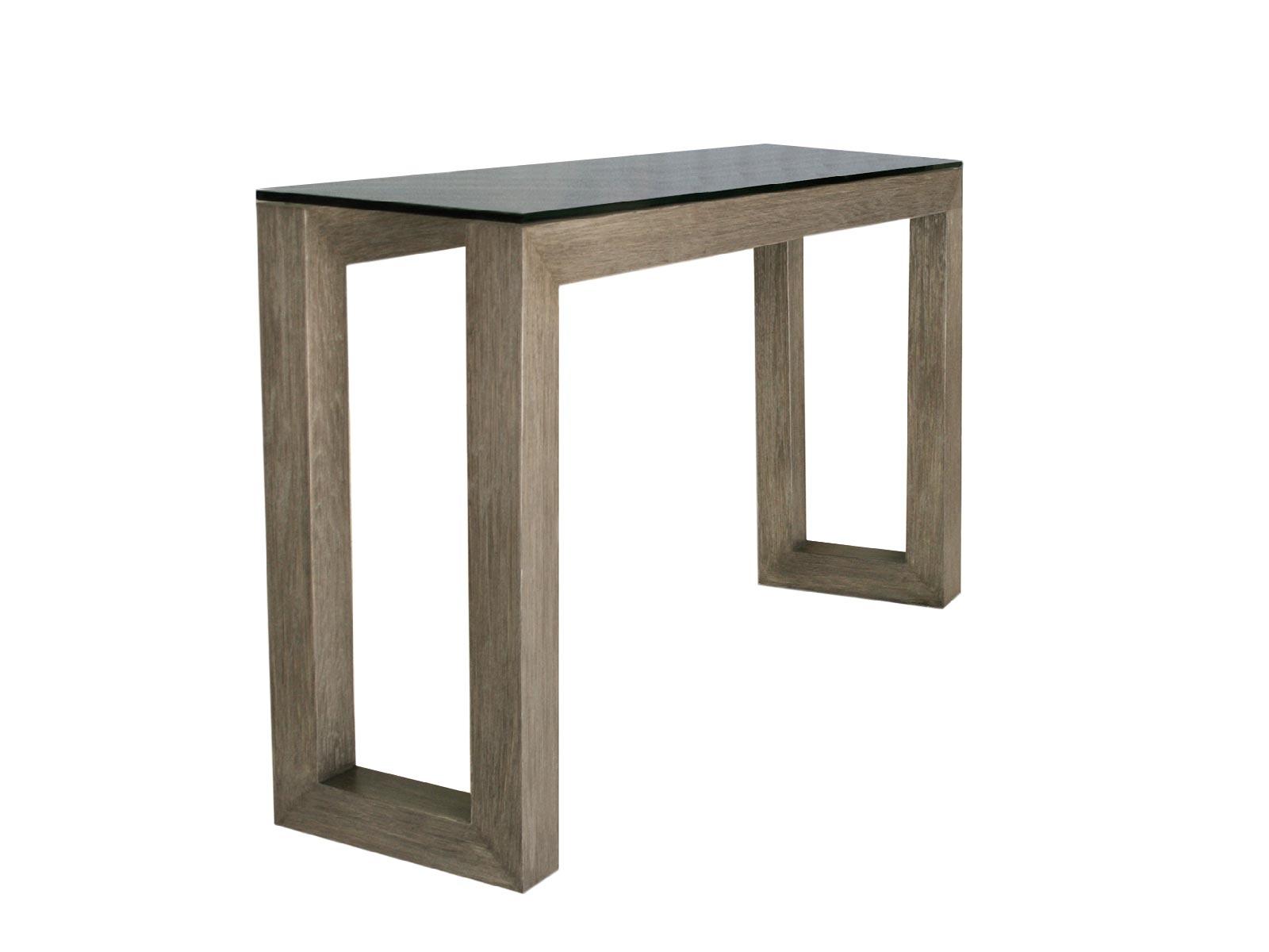 Mesa de sala porto centro y lateral para cristal for Cristal para mesa rectangular