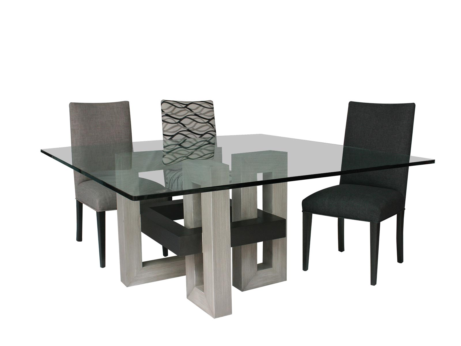 Comedores de cristal la mejor opcin en venta de muebles - Bases para mesas de vidrio comedor ...