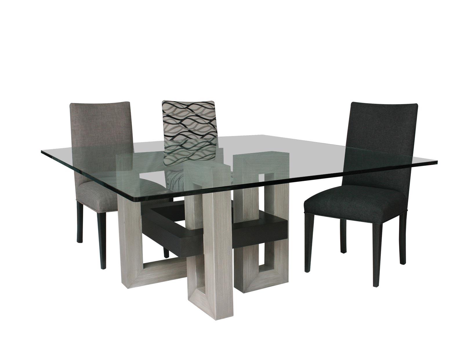 Comedores de cristal mesas de comedor modernas de cristal for Bases de mesas cromadas