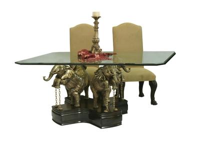Base Elefantes color Bronce  para Cristal Cuadrado Destacada