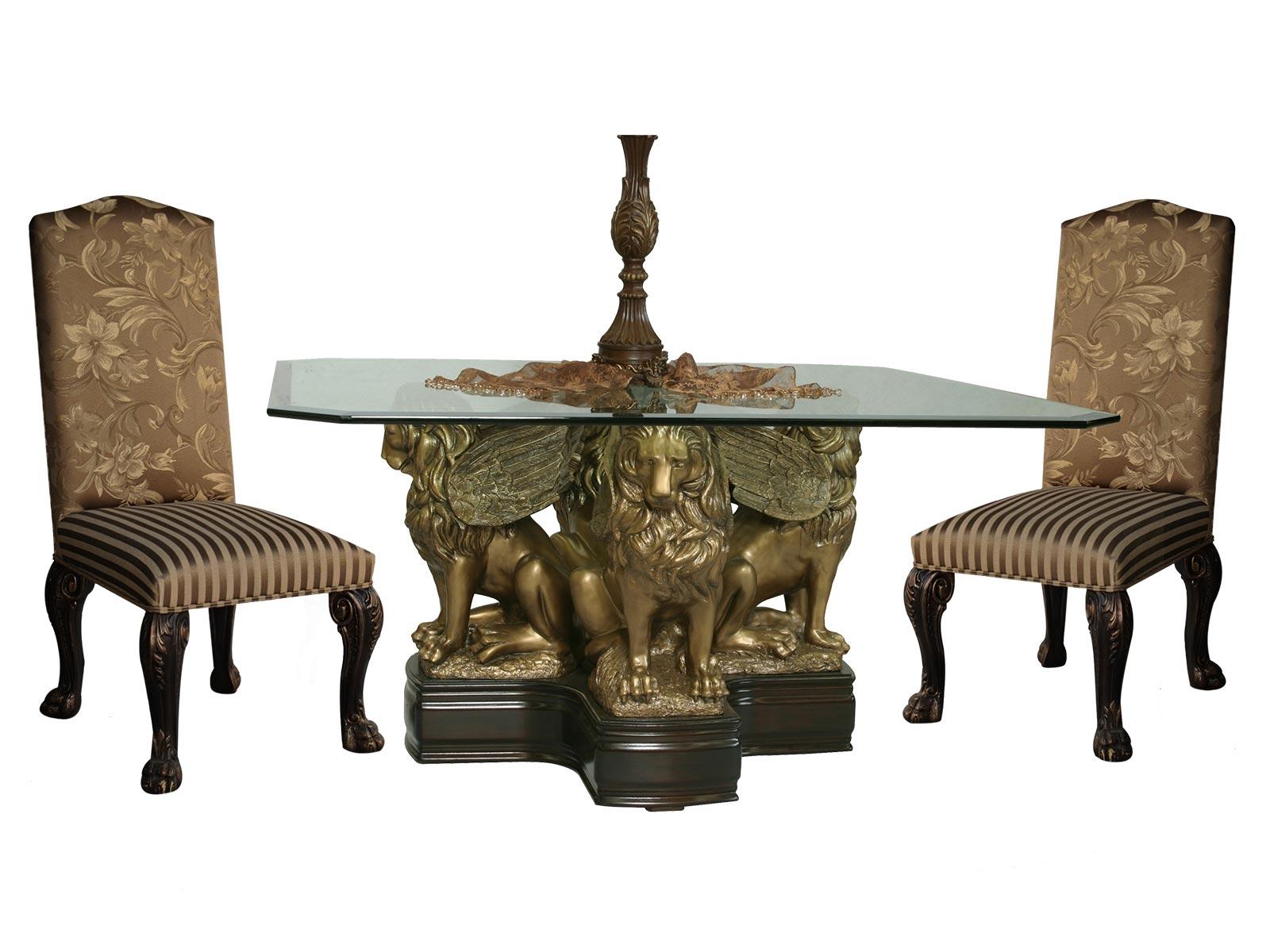 Base leones para cristal cuadrado grupo umma for Muebles elefante