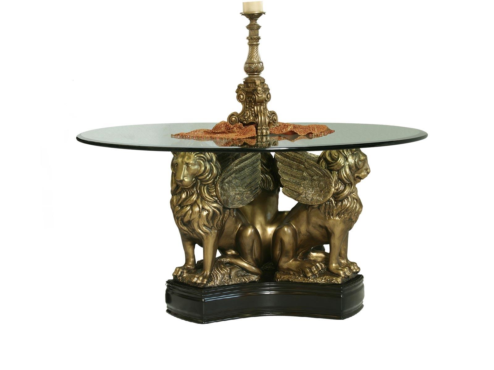 Base leones para cristal redondo grupo umma for Cristal redondo para mesa
