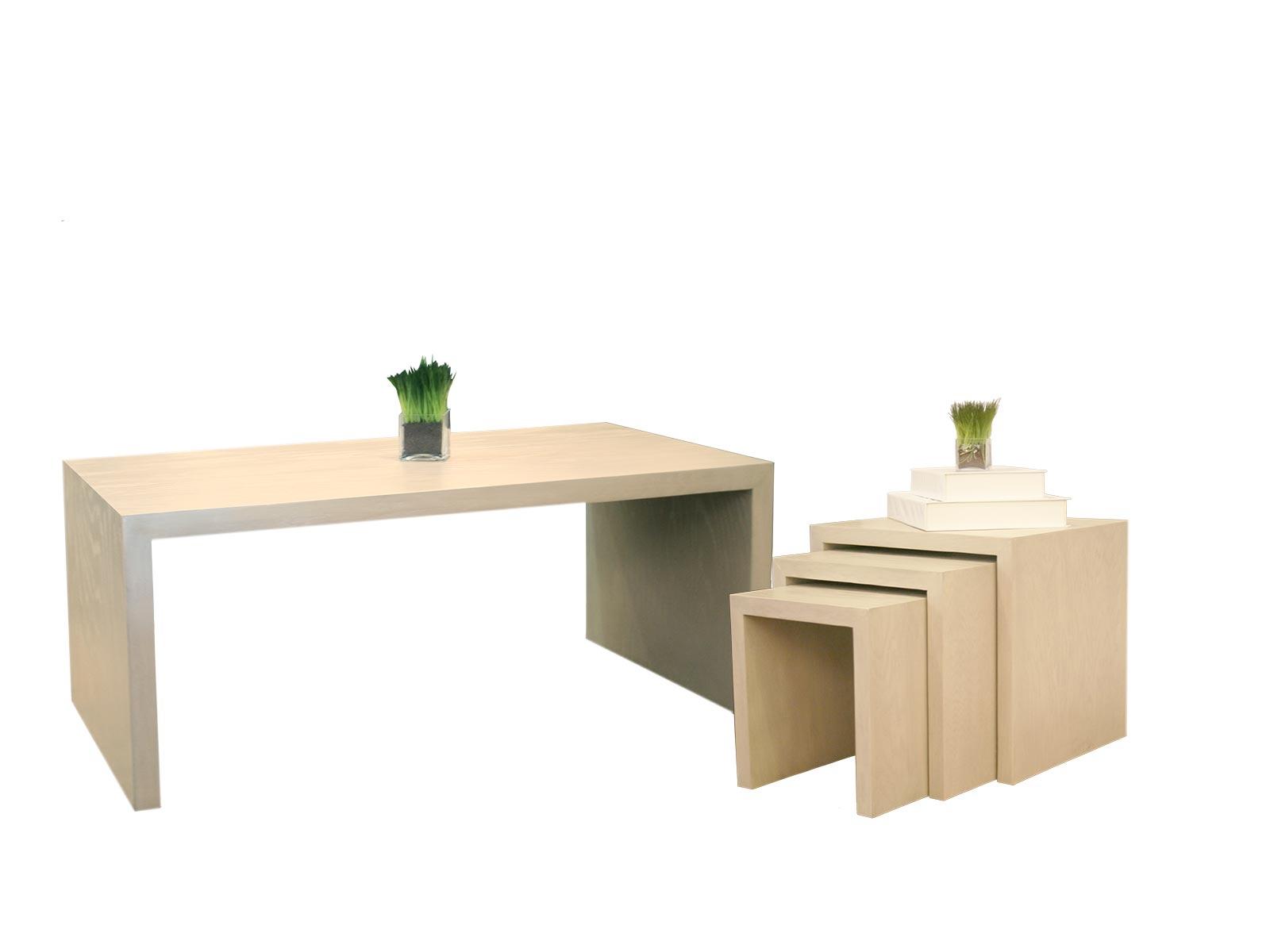 Mesa de sala cova centro y lateral rectangular grupo umma for Muebles santa engracia