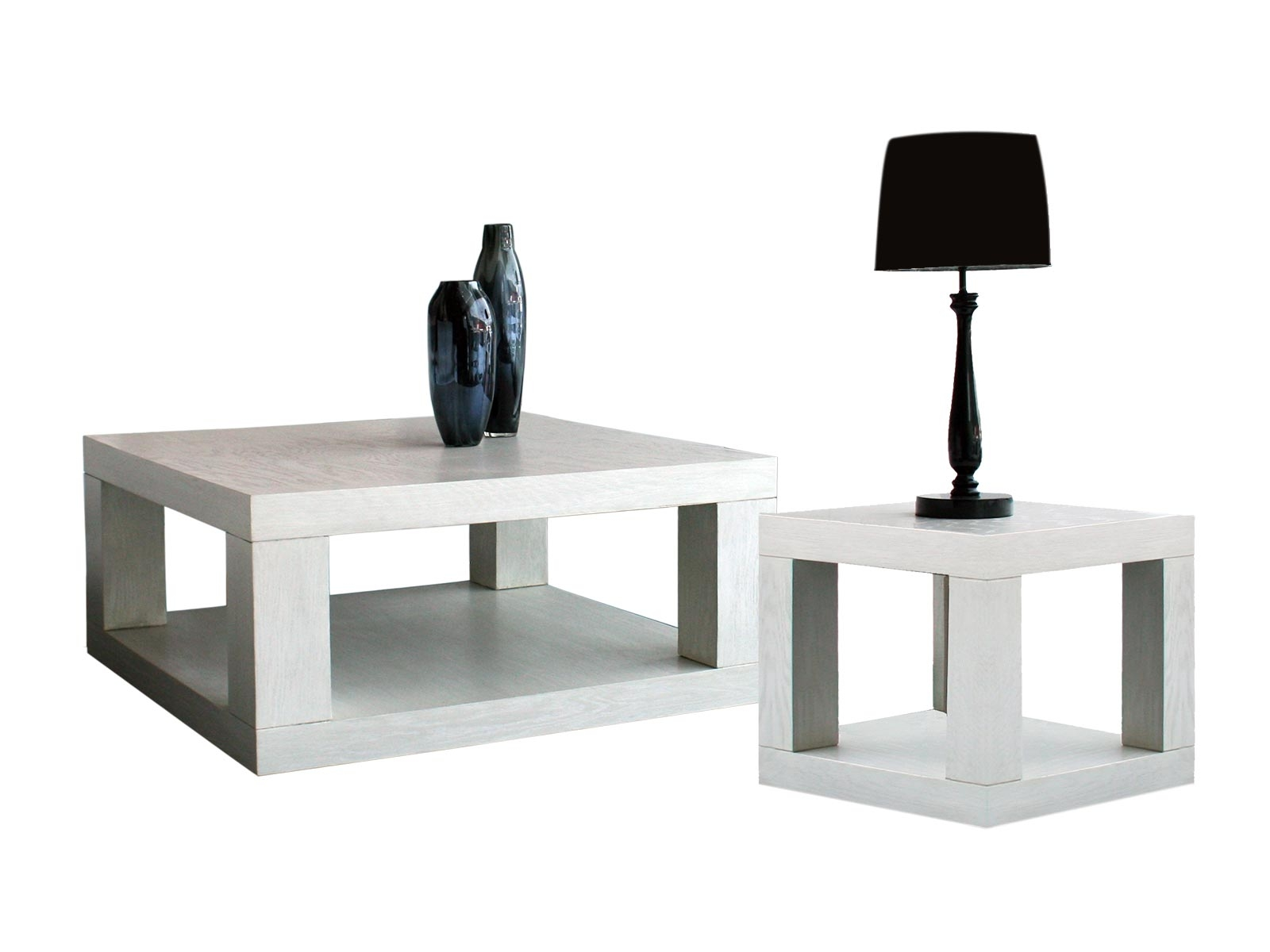 Mesa de sala dutti centro y lateral cuadrada grupo umma for Mesas de centro de sala de vidrio